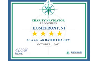 HomeFront Awarded Charity Navigator 4-Star Rating