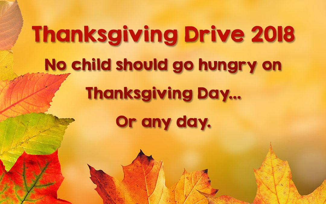 Thanksgiving Drive 2018