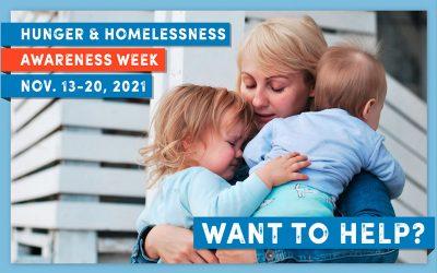 Hunger and Homelessness Awareness Week – 2021